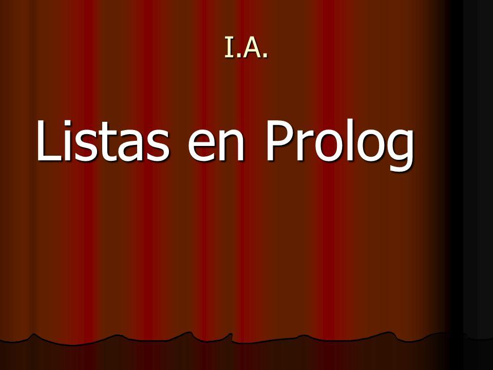 I.A. Listas en Prolog