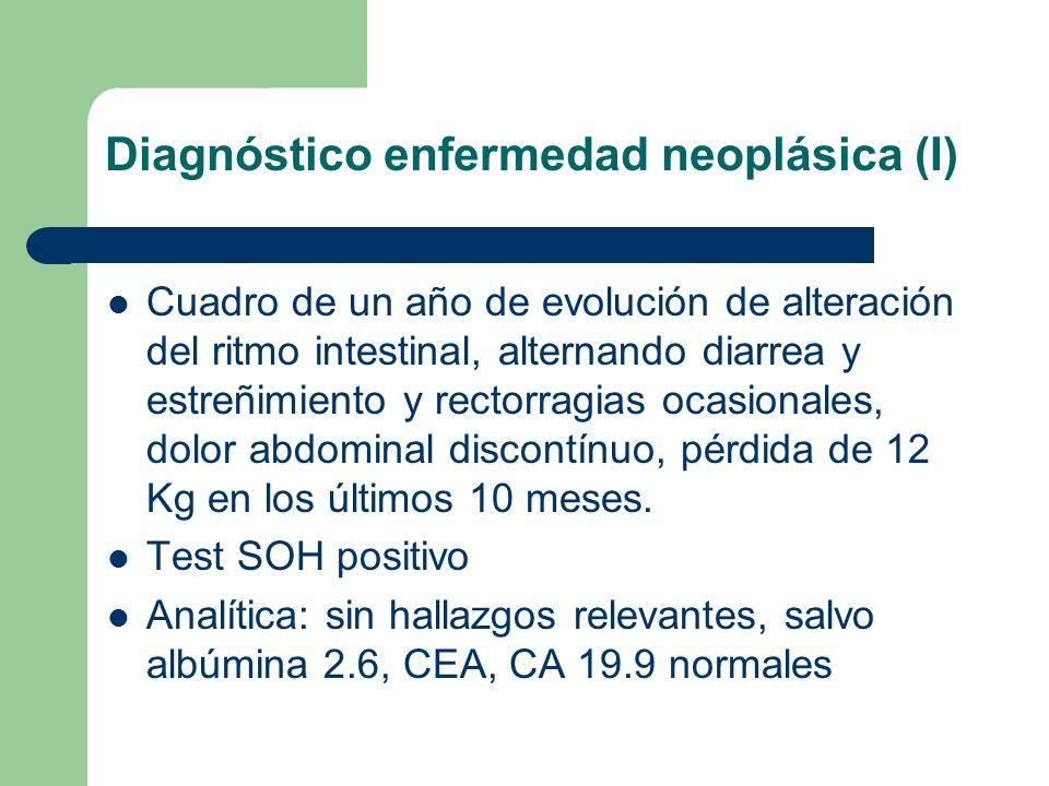 Diagnóstico enfermedad neoplásica (I)