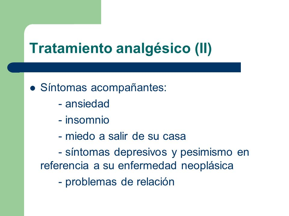 Tratamiento analgésico (II)