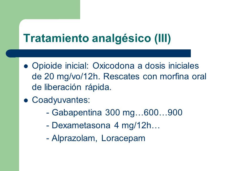 Tratamiento analgésico (III)