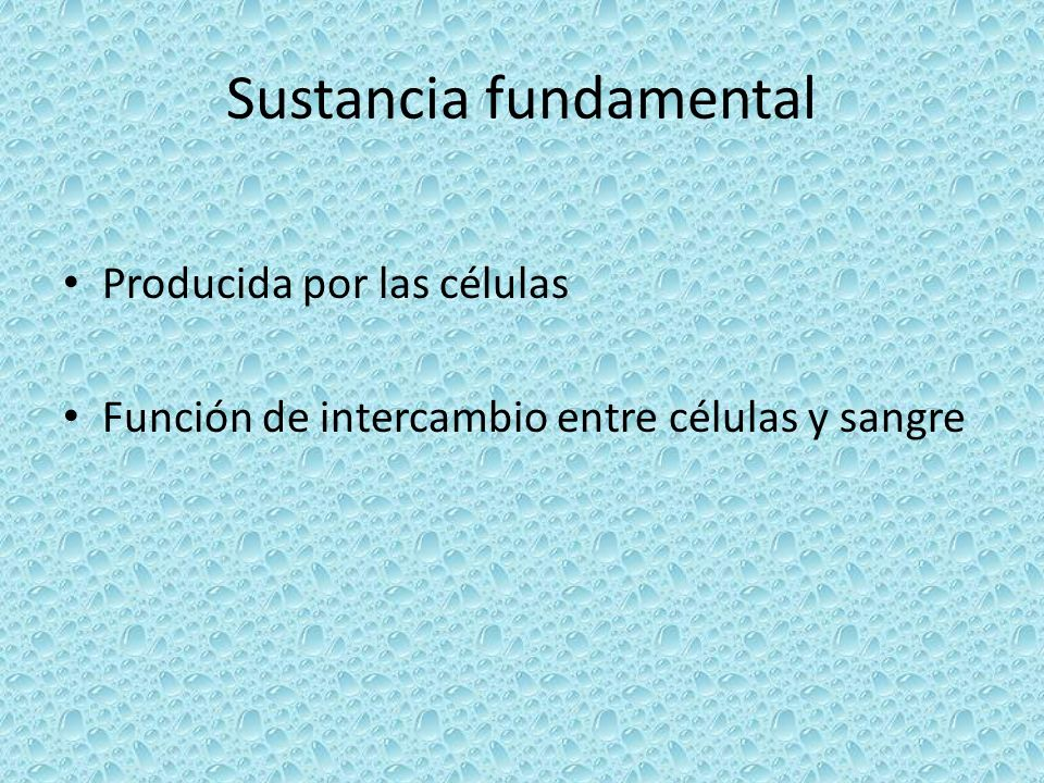 Sustancia fundamental