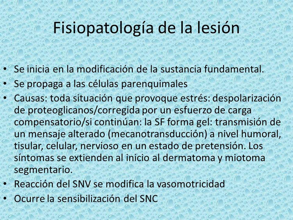 Fisiopatología de la lesión