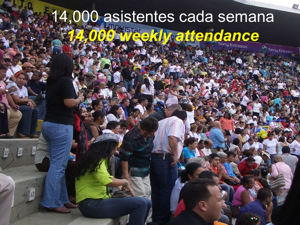 14,000 asistentes cada semana