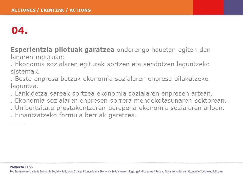 ACCIONES / EKINTZAK / ACTIONS