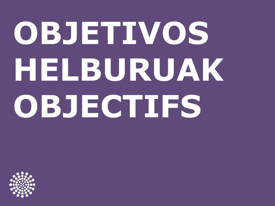 OBJETIVOS HELBURUAK OBJECTIFS
