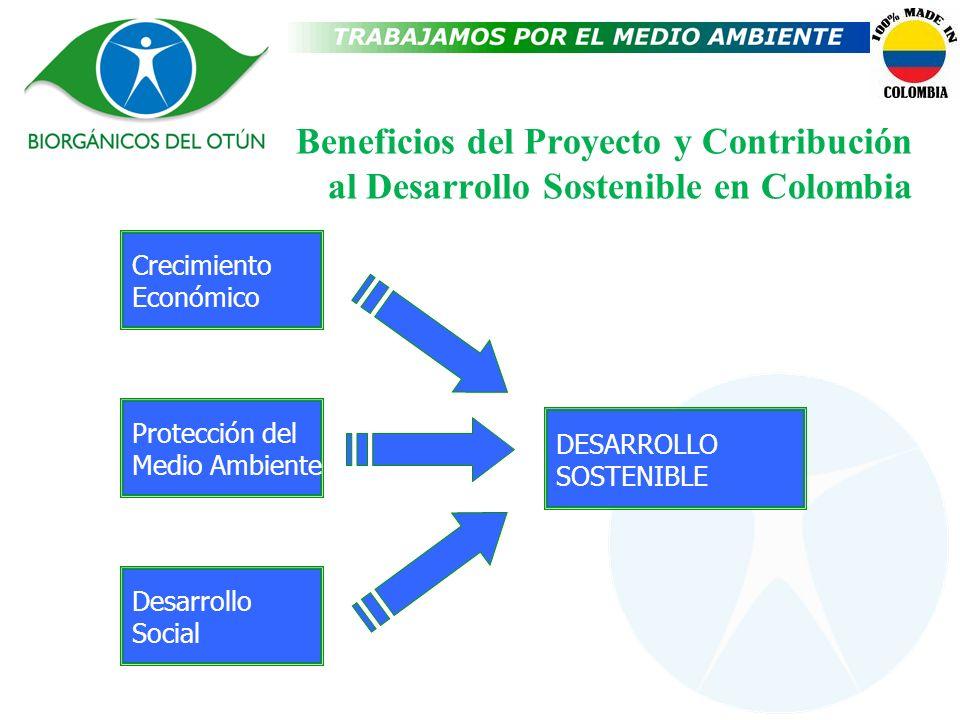 Beneficios del Proyecto y Contribución al Desarrollo Sostenible en Colombia