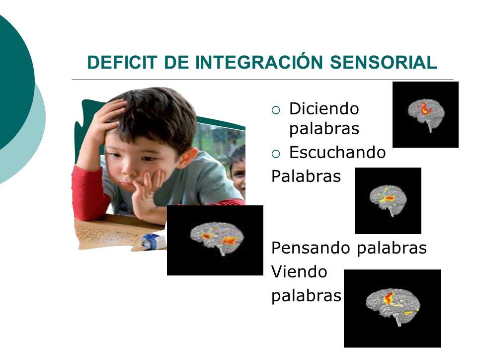 DEFICIT DE INTEGRACIÓN SENSORIAL