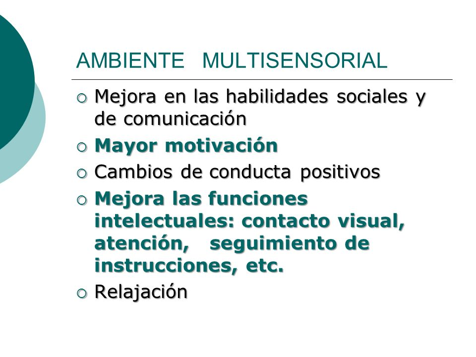 AMBIENTE MULTISENSORIAL