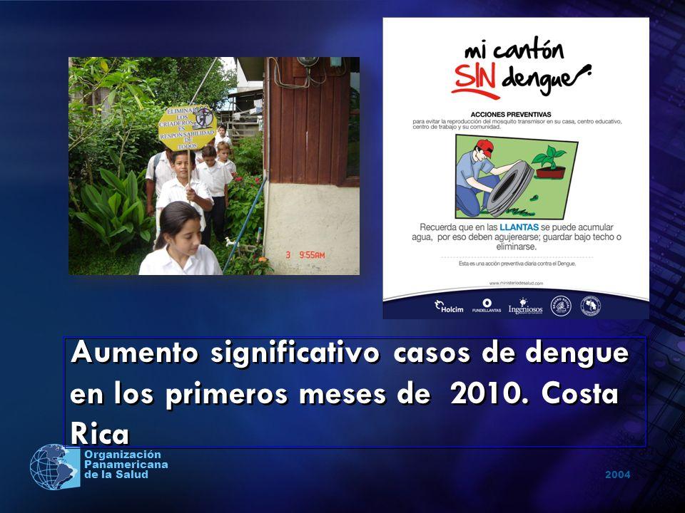 Aumento significativo casos de dengue en los primeros meses de 2010