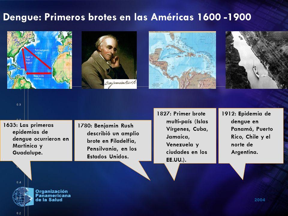 Dengue: Primeros brotes en las Américas 1600 -1900