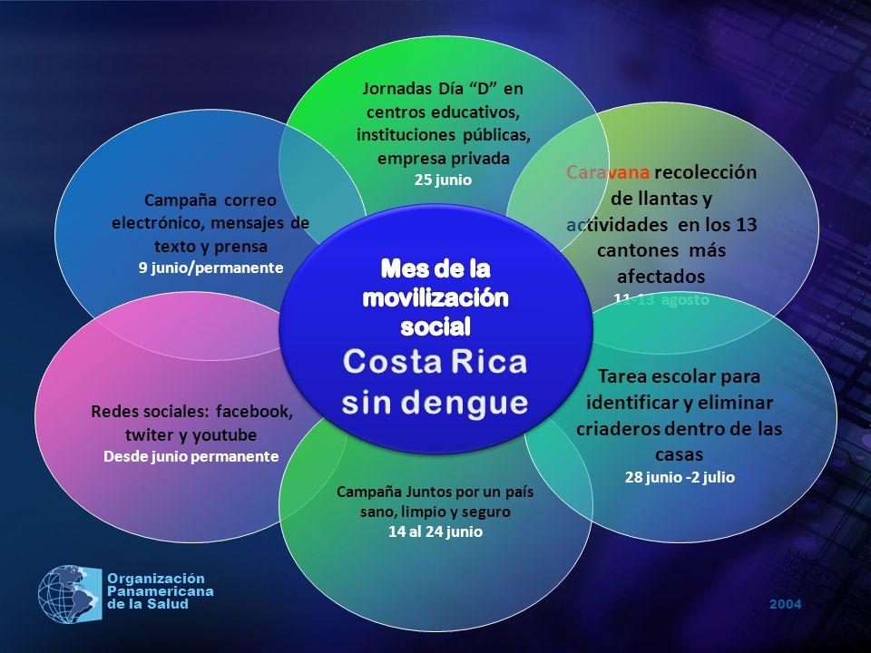 Costa Rica sin dengue Mes de la movilización social