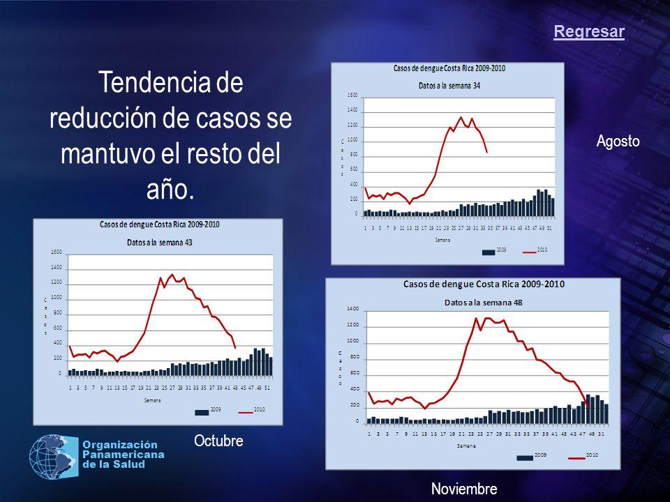 Tendencia de reducción de casos se mantuvo el resto del año.