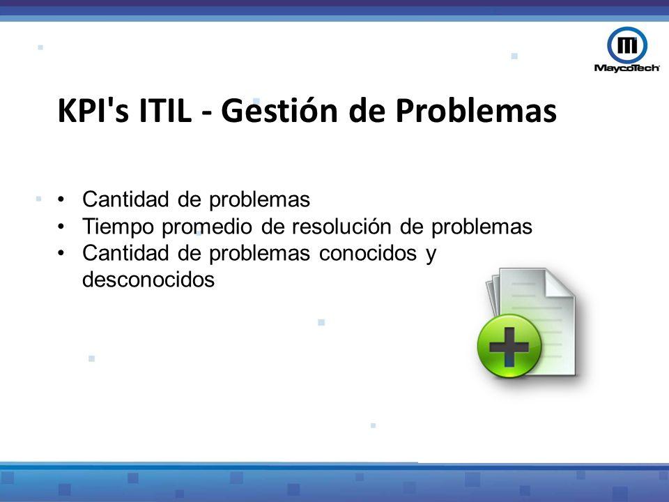 KPI s ITIL - Gestión de Problemas