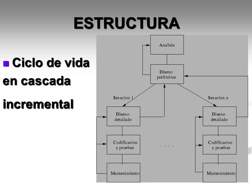 ESTRUCTURA Ciclo de vida en cascada incremental