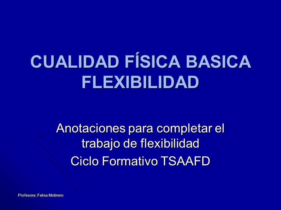 CUALIDAD FÍSICA BASICA FLEXIBILIDAD