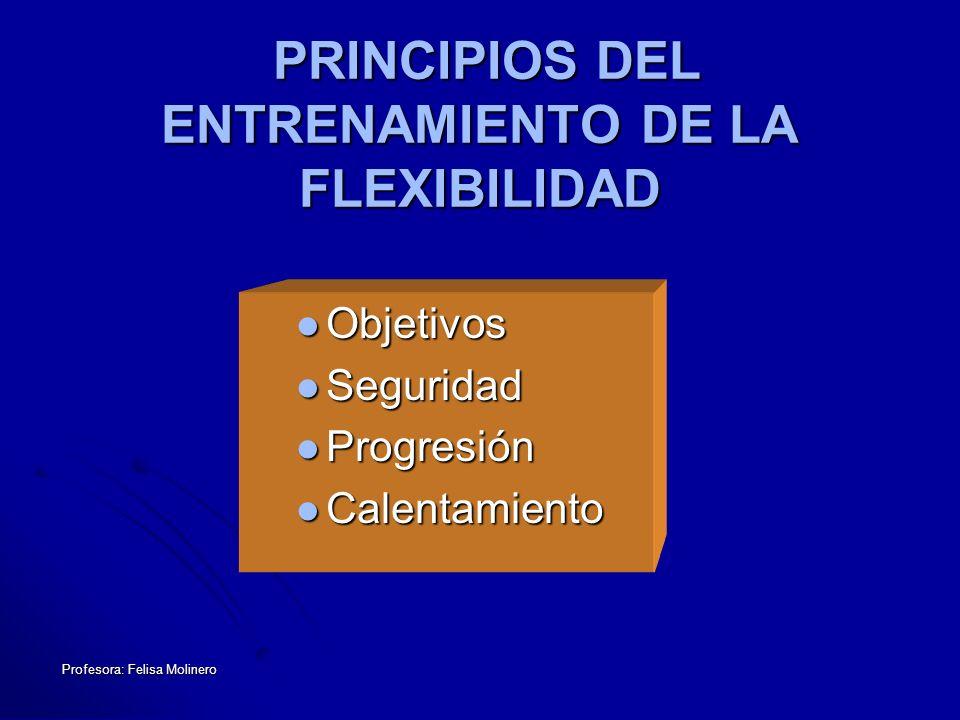 PRINCIPIOS DEL ENTRENAMIENTO DE LA FLEXIBILIDAD