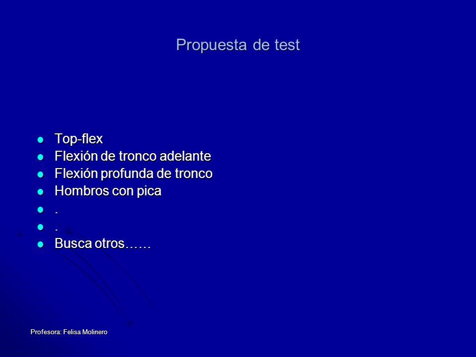Propuesta de test Top-flex Flexión de tronco adelante