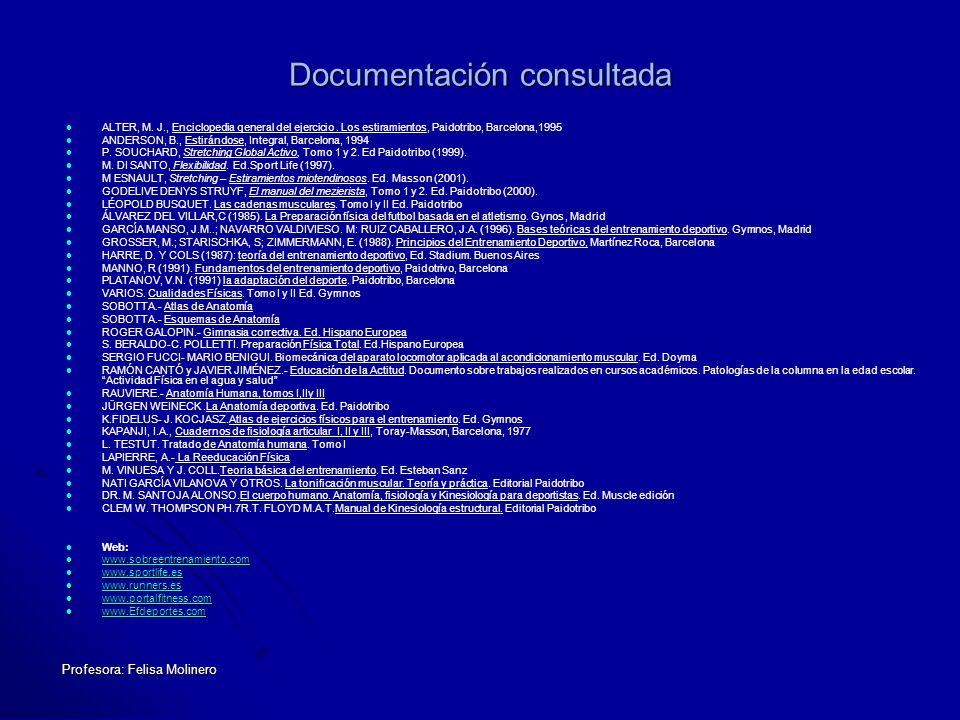 Documentación consultada
