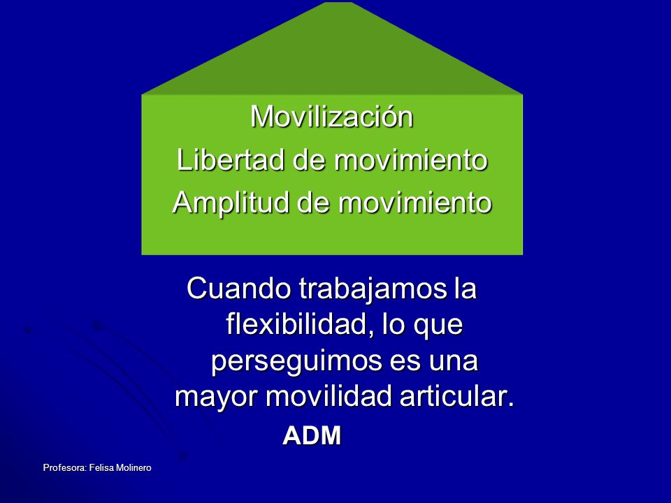 Libertad de movimiento Amplitud de movimiento