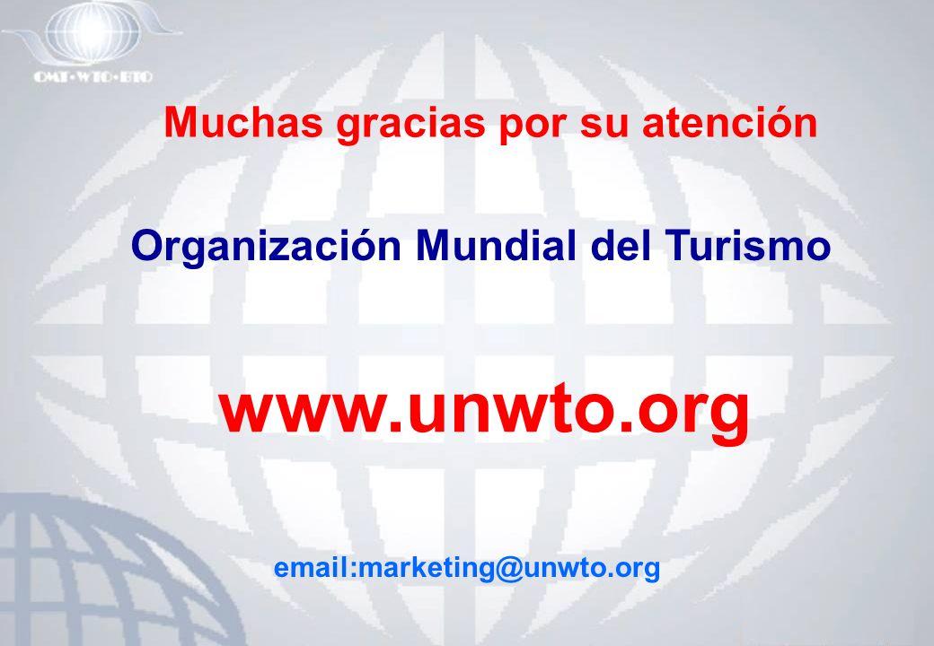 Muchas gracias por su atención Organización Mundial del Turismo