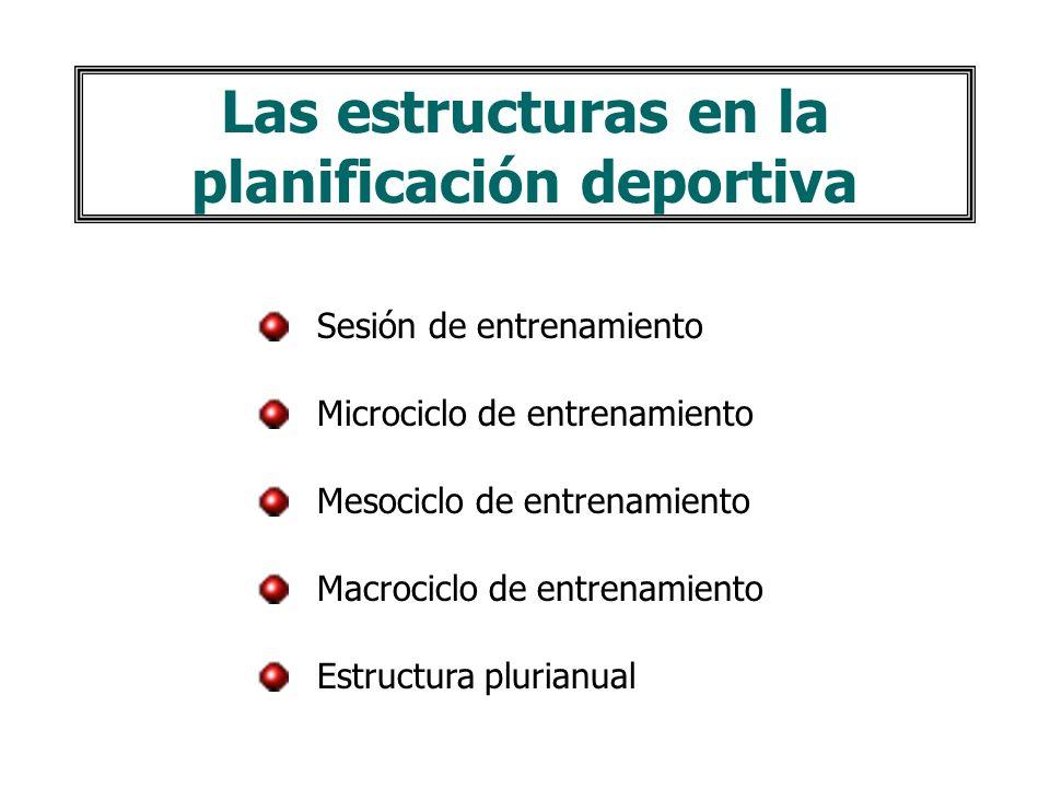 Las estructuras en la planificación deportiva