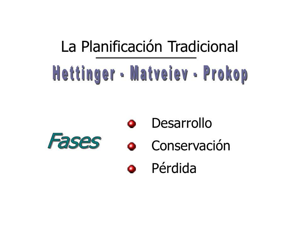 La Planificación Tradicional