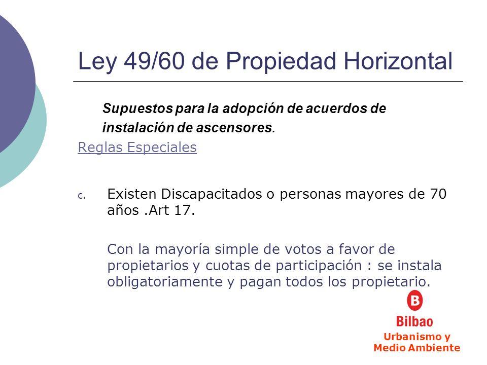 Ley 49/60 de Propiedad Horizontal