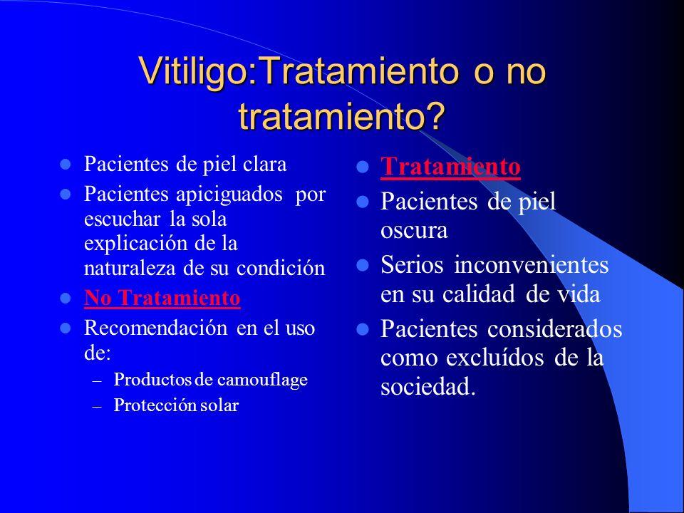 Vitiligo:Tratamiento o no tratamiento