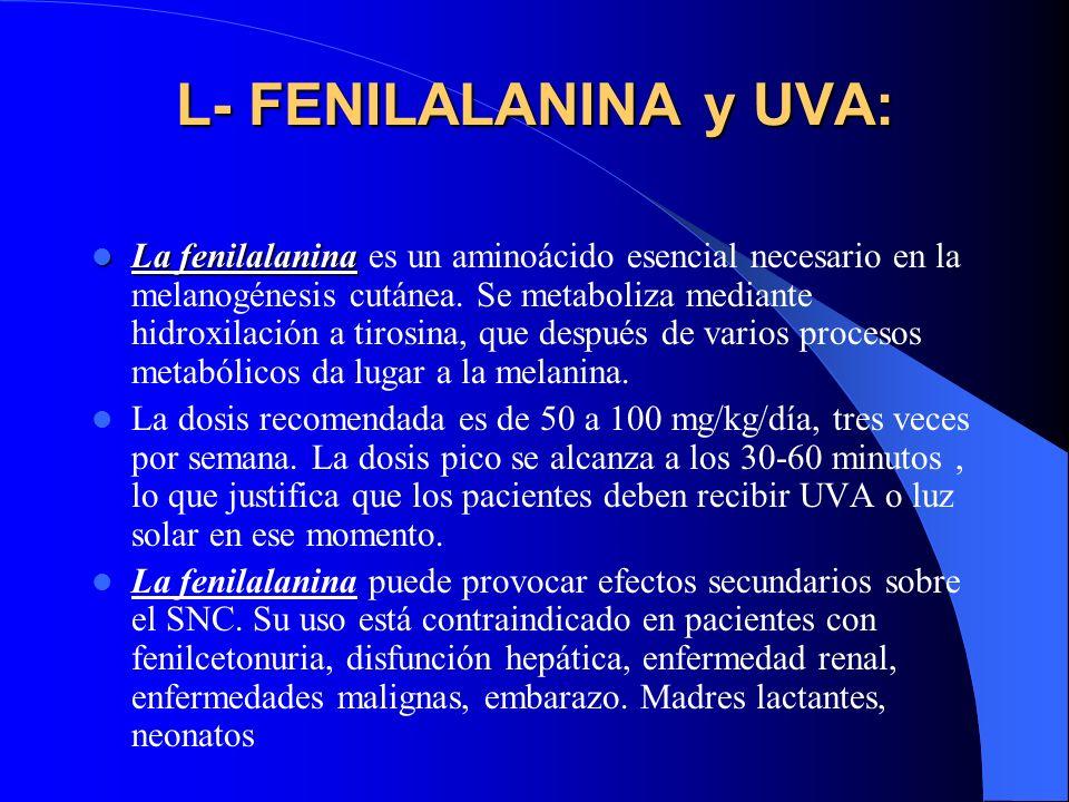 L- FENILALANINA y UVA: