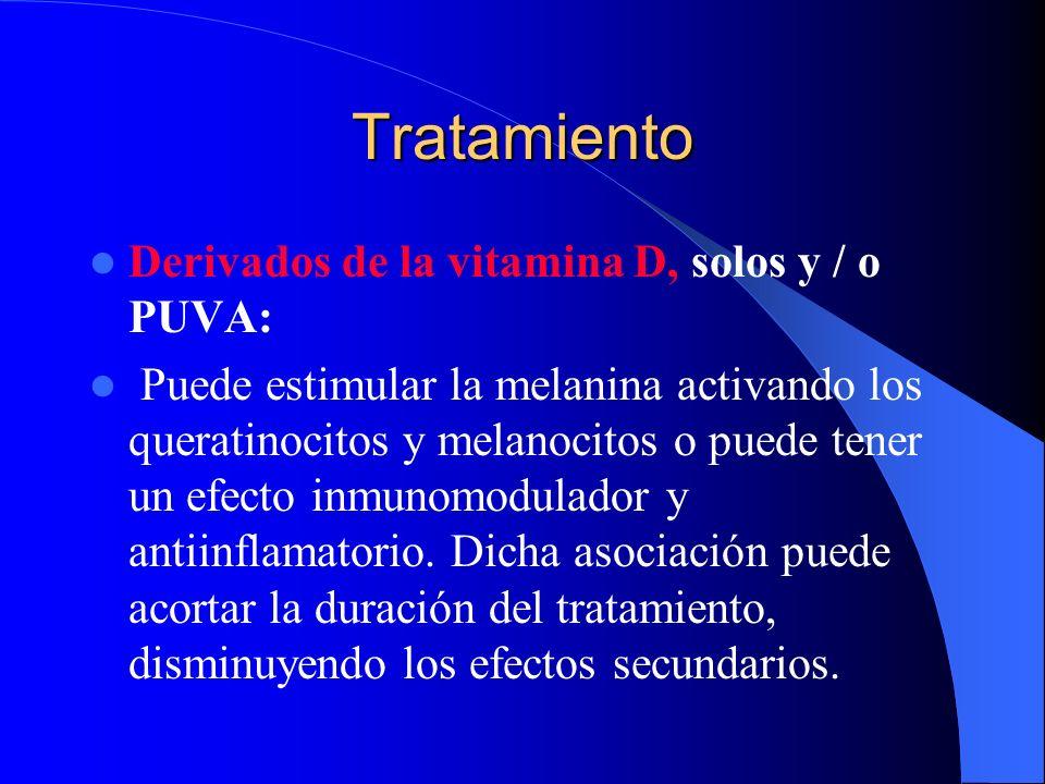 Tratamiento Derivados de la vitamina D, solos y / o PUVA: