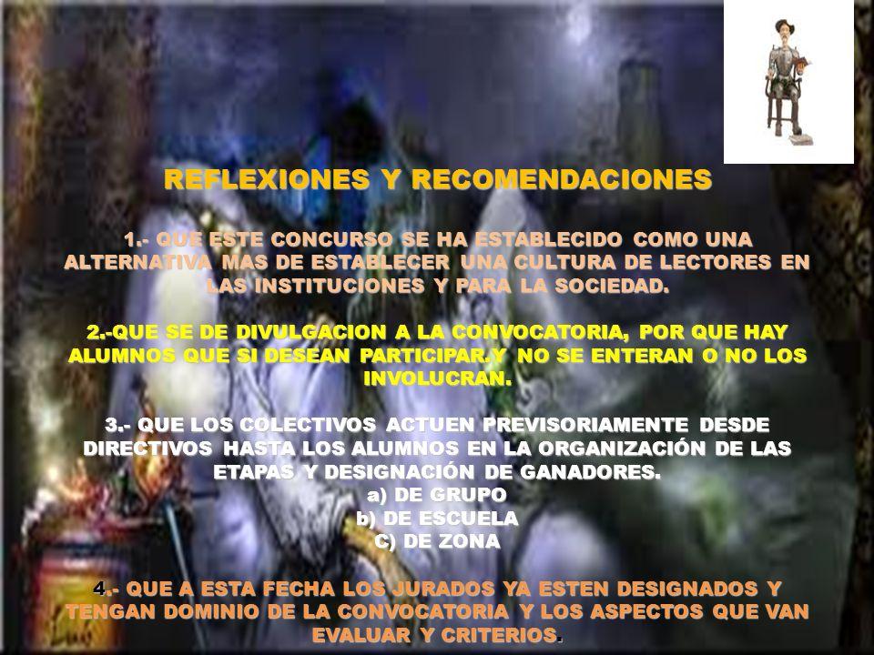 REFLEXIONES Y RECOMENDACIONES 1