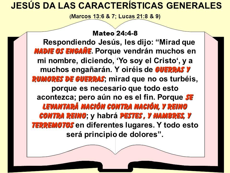 JESÚS DA LAS CARACTERÍSTICAS GENERALES