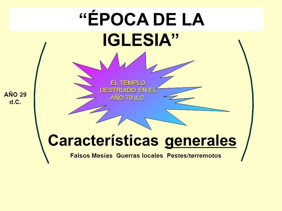 ÉPOCA DE LA IGLESIA Características generales
