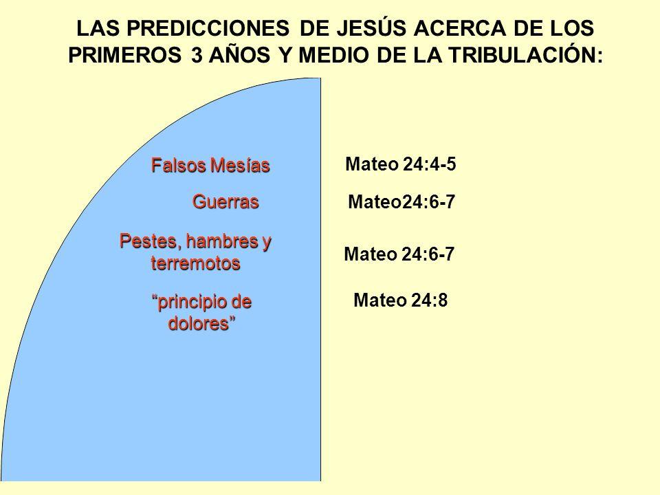 LAS PREDICCIONES DE JESÚS ACERCA DE LOS PRIMEROS 3 AÑOS Y MEDIO DE LA TRIBULACIÓN: