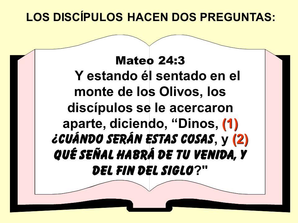LOS DISCÍPULOS HACEN DOS PREGUNTAS: