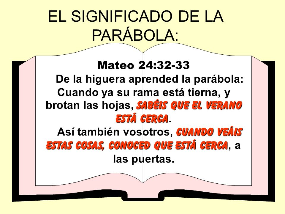 EL SIGNIFICADO DE LA PARÁBOLA: