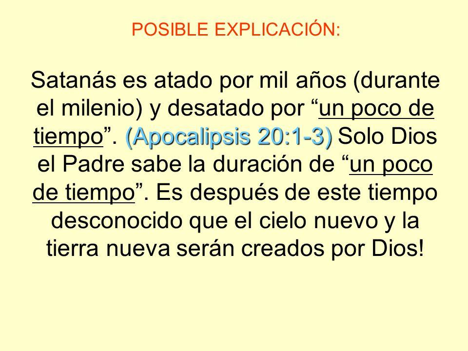 POSIBLE EXPLICACIÓN: