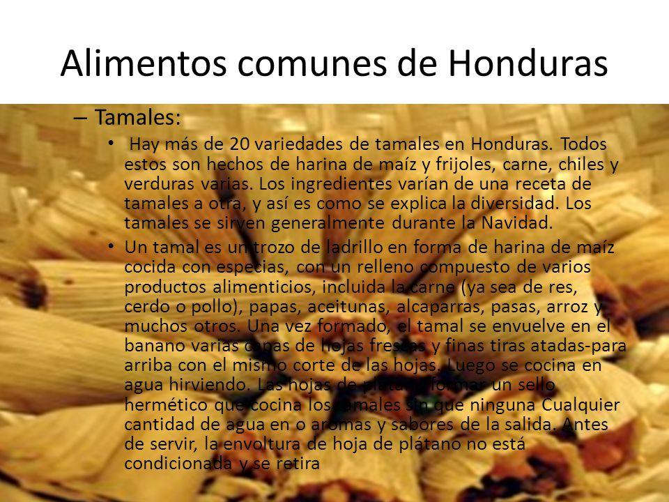 Alimentos comunes de Honduras