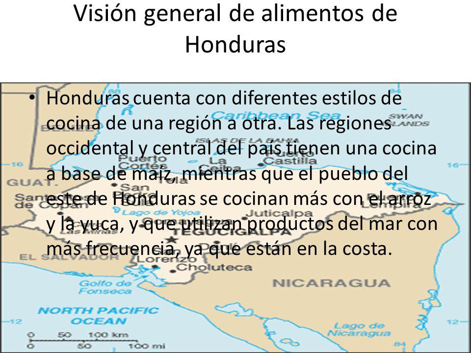 Visión general de alimentos de Honduras