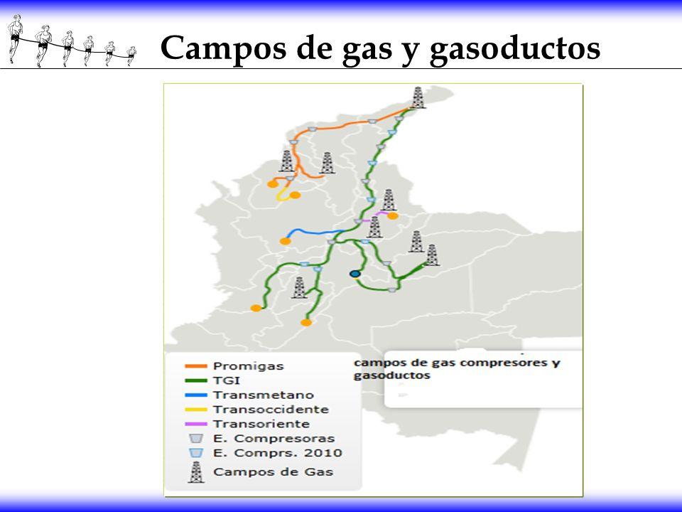 Campos de gas y gasoductos