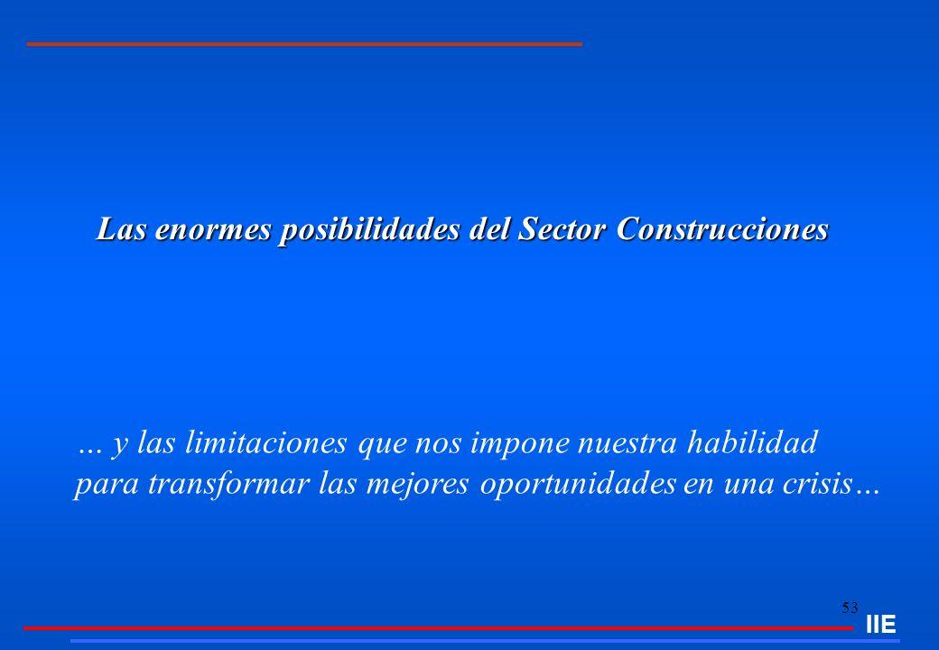 Las enormes posibilidades del Sector Construcciones