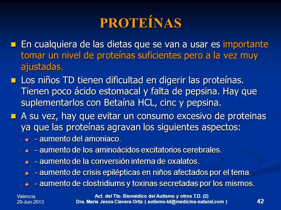 PROTEÍNASEn cualquiera de las dietas que se van a usar es importante tomar un nivel de proteínas suficientes pero a la vez muy ajustadas.