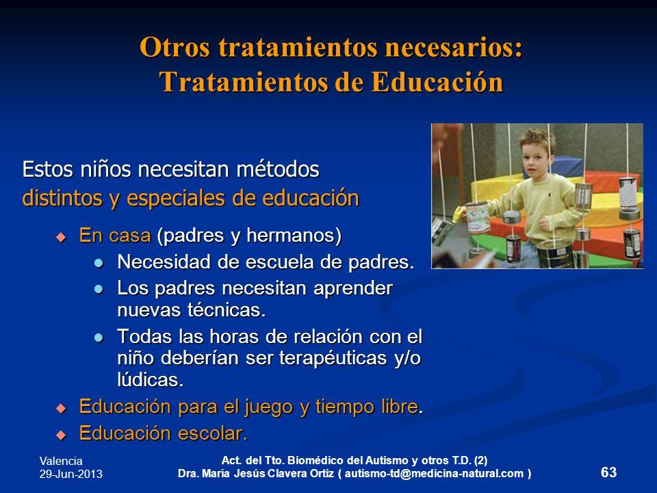 Otros tratamientos necesarios: Tratamientos de Educación