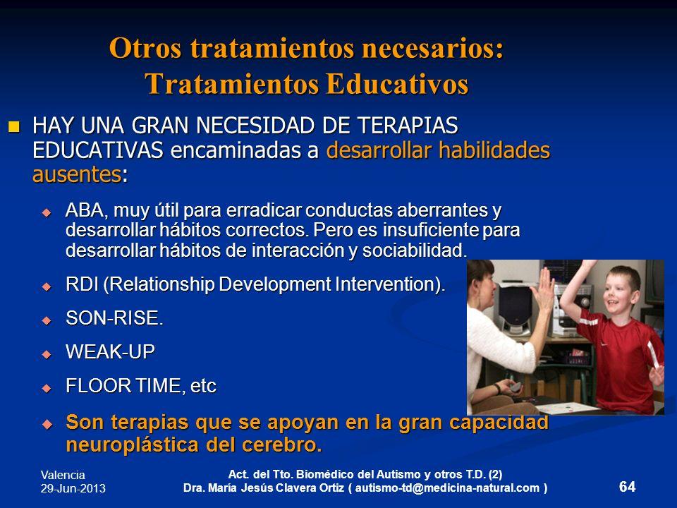 Otros tratamientos necesarios: Tratamientos Educativos