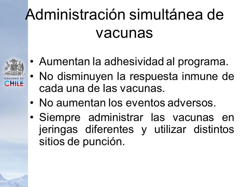 Administración simultánea de vacunas