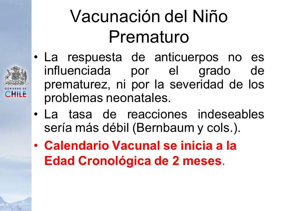 Vacunación del Niño Prematuro