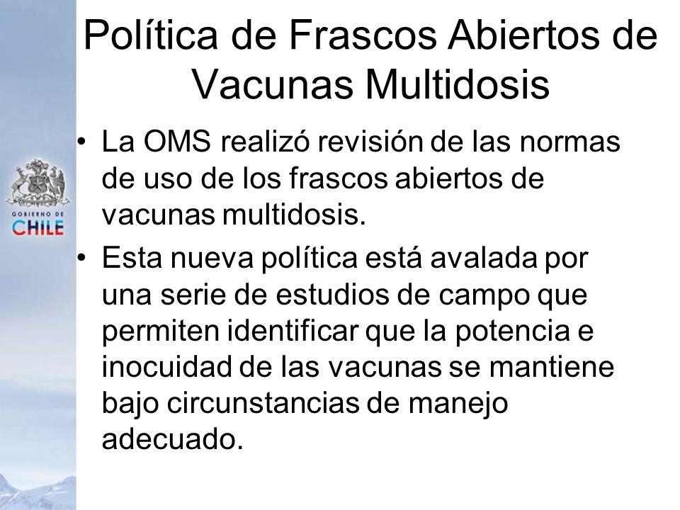 Política de Frascos Abiertos de Vacunas Multidosis