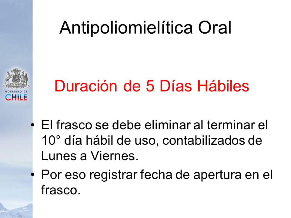 Antipoliomielítica Oral