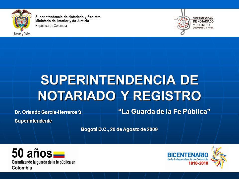 Superintendencia de notariado y registro ppt descargar for Ministerio del interior colombia