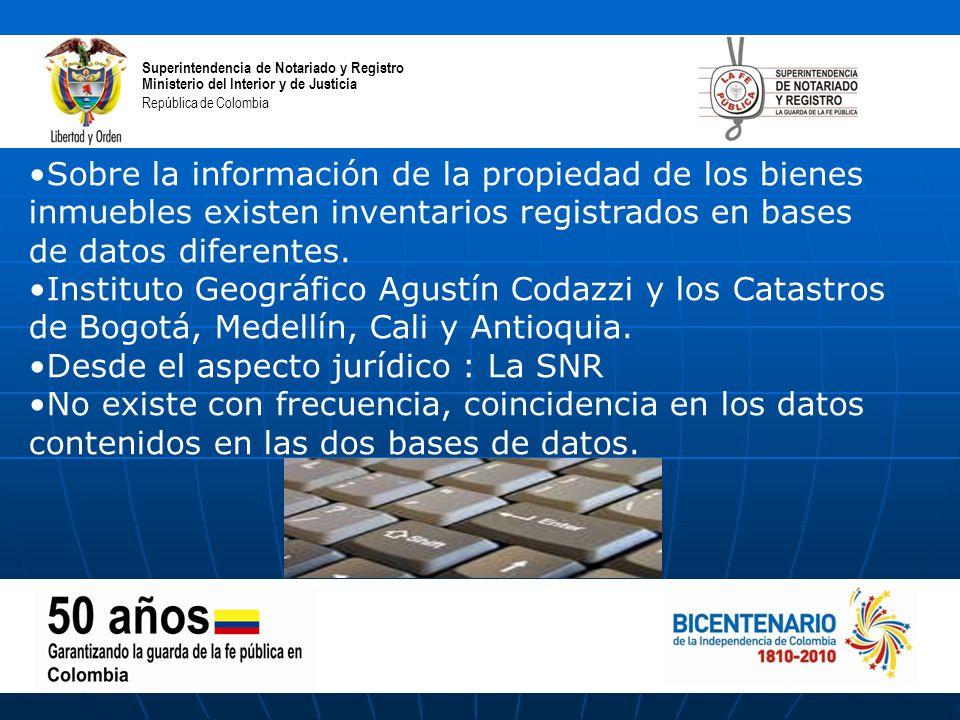Superintendencia de notariado y registro ppt descargar for Direccion ministerio del interior bogota